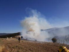Fotos de los incendios en Oncala y Sárnago/ Fuente: BRIF a Lubia
