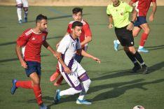 Una imagen del partido en Tarazona. /CDN