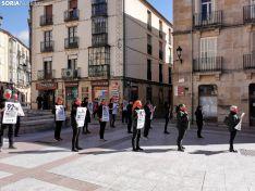 Foto 4 - AnimaNaturalis protesta en Soria contra las subvenciones concedidas por la Junta al sector taurino