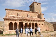 Concluye la restauración de la galería porticada de la iglesia de San Pedro, en Caracena