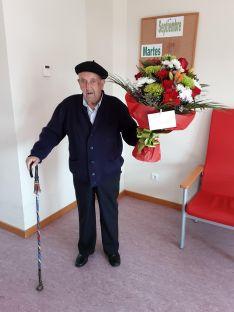 El centenario este martes en su cumpleaños. /Dip.