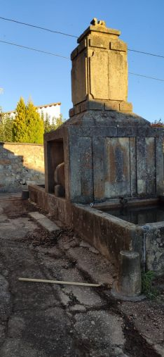 Una imagen del estado actual de la fuente.
