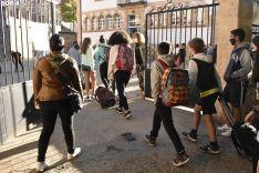 Primer día de cole en el CEIP La Arboleda.