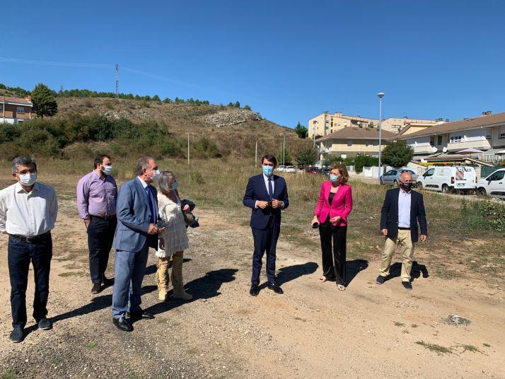 Visita del consejero a Aguilar de Campoo