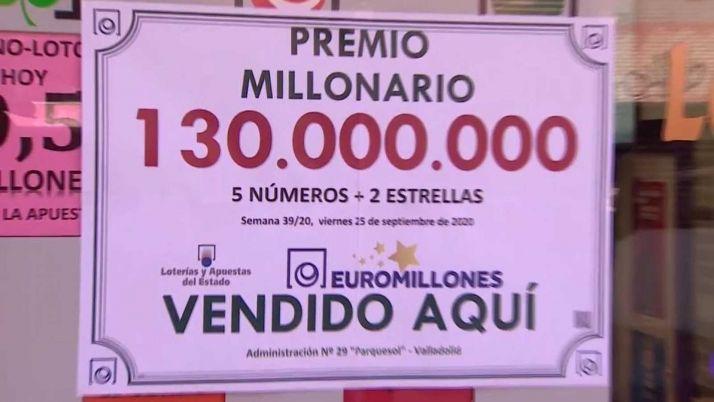 Foto 1 - El Euromillones deja en Valladolid un premio de 130 millones de euros