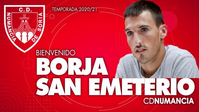 Foto 1 - Borja San Emeterio: La nueva incorporación del C.D. Numancia