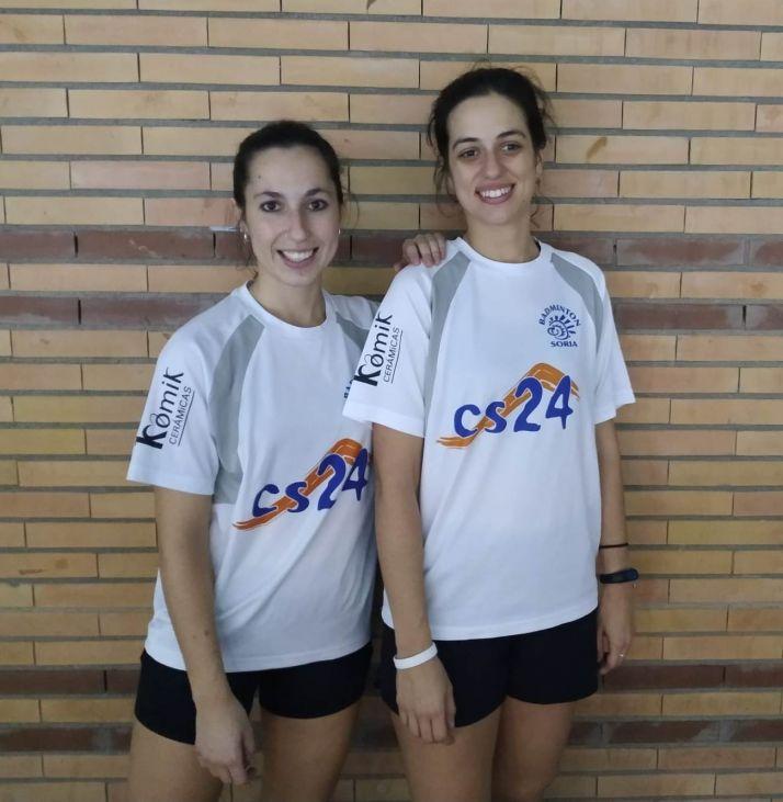 Ana y Marina, jugadoras del Club/ Foto: Club Bádminton Soria - CS24
