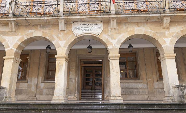 Entrada principal al ayuntamiento capitalino. /SN