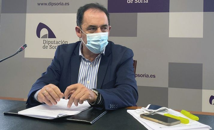 Benito Serrano, presidente de la Diputación este lunes. /Dip.