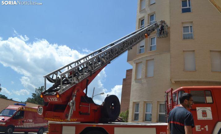 Una intervención de los bomberos en la capital. /SN