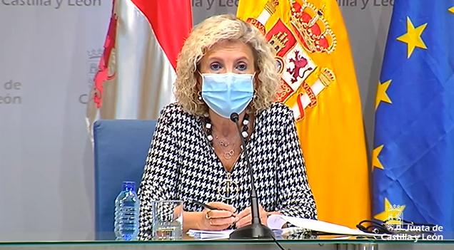 Verónica Casado durante la rueda de prensa.