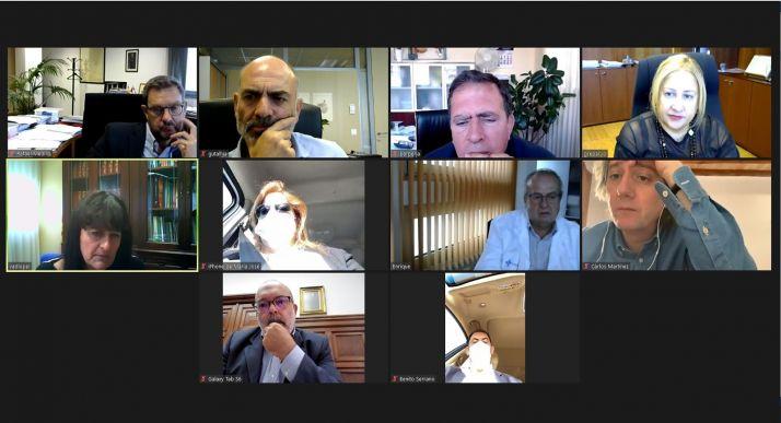 Reunión del CECOPI mantenida esta mañana por via telemática. /Jta.