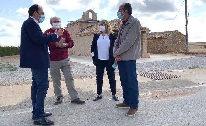 Serrano, (izda.), Alejandre, Jiménez y Gil. /Dip.