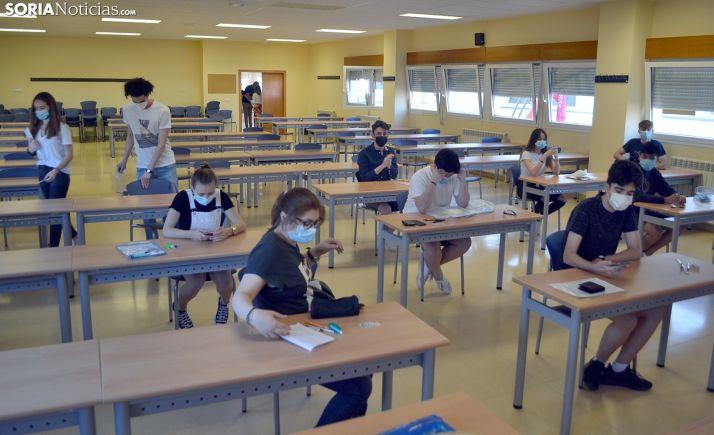 Examinandos de la EBAU en el Campus el pasado 1 de julio. /SN