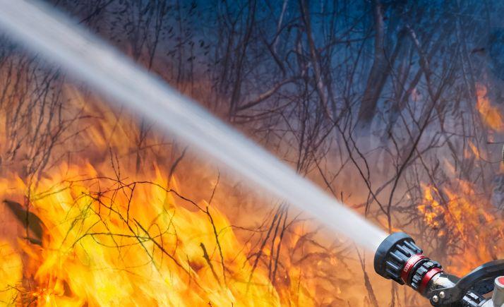 Foto 1 - Menos de un hectárea quemada, en el incendio de Alcozar