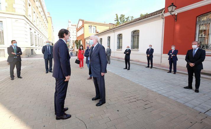 Una imagen del encuentro entre Cámaras y Junta este martes. /Jta.