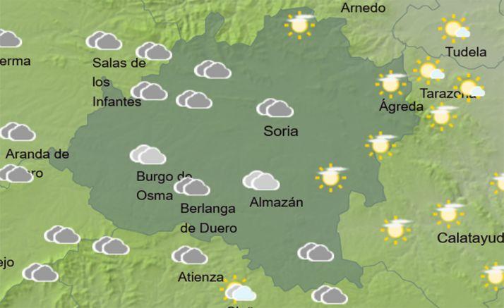 El cielo de la provincia a las 15:00 horas. /AEMET