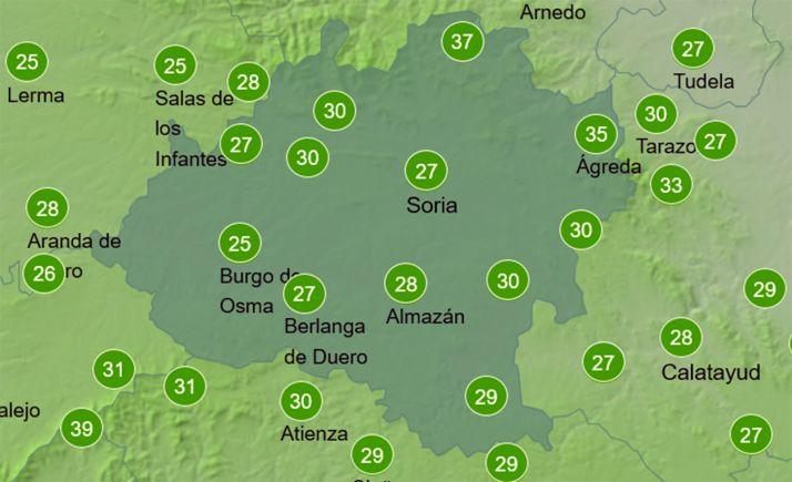 Humedad relativa del aire a las 17:00 horas. /AEMET