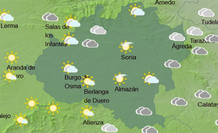 Foto 2 - El tiempo en Soria: Aumenta la nubosidad