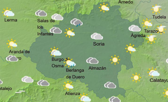 Previsión del cielo a las 15:00 horas. /AEMET