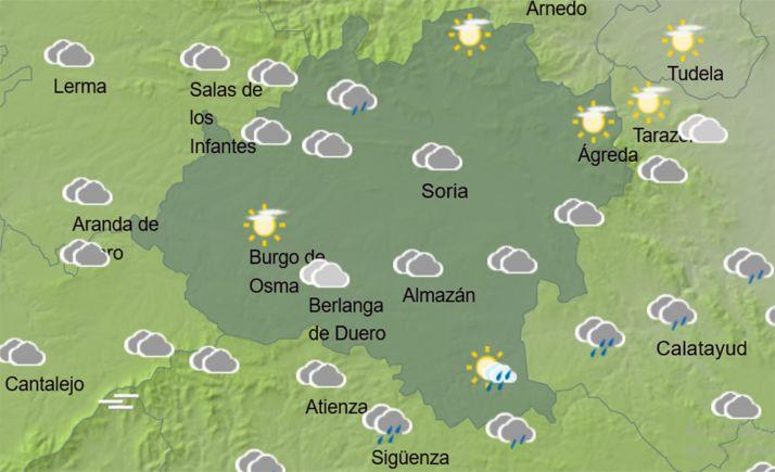 Previsión del cielo en la provincia a las 12:00 horas. /AEMET
