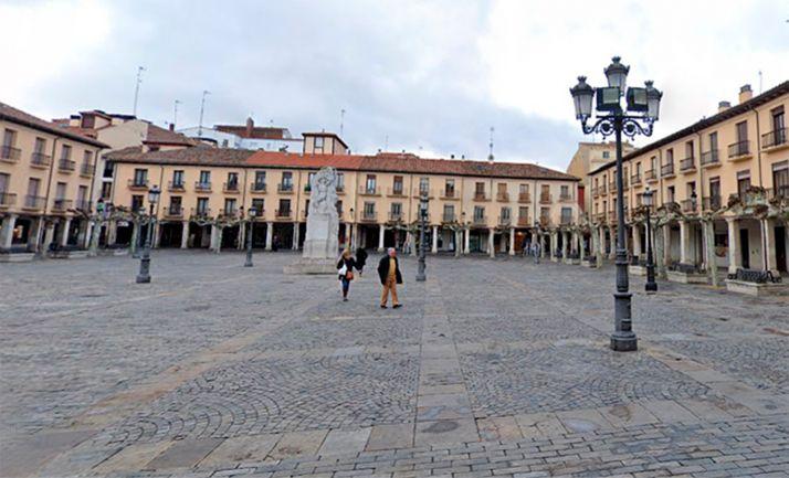 Una imagen de la plaza Mayor de Palencia. /GM