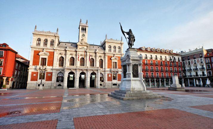 Una imagen de la plaza Mayor de la ciudad. /AV