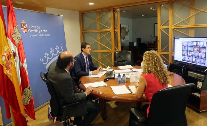 Videoconferencia Políticas del Juego con el Ministerio de Consumo. /Jta.