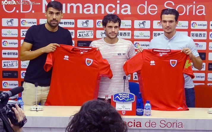 López, Alonso y Cotán este jueves en Los Pajaritos. /SN