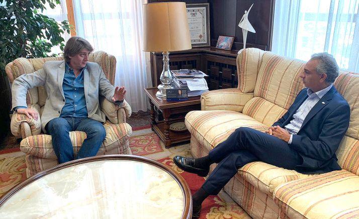 Una imagen de la reunión entre ambos mandatarios. /CDN