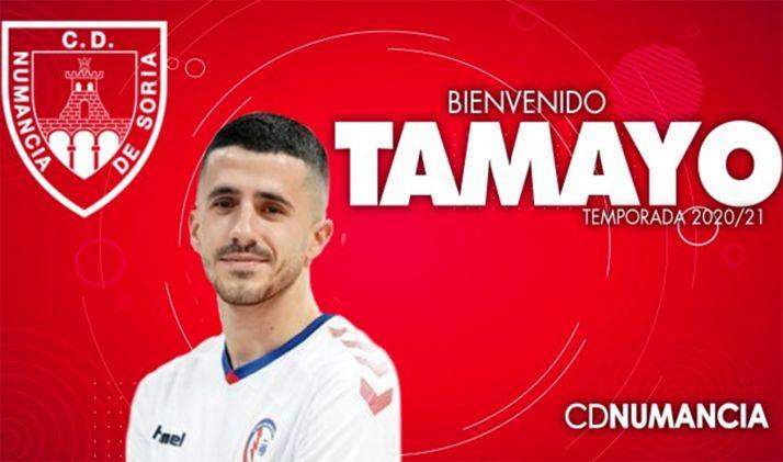 Jesús Tamayo, apuesta del Numancia para el ataque