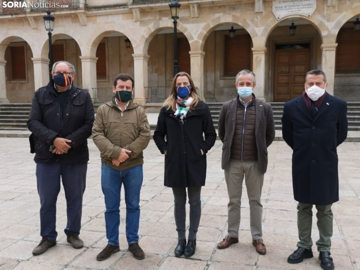Pedro Requejo (Zamora), Ricardo Chamorro (Ciudad Real), Cristina Esteban (Valencia), Pablo Sáez (Valladolid) y Carmelo Herrero (Soria)