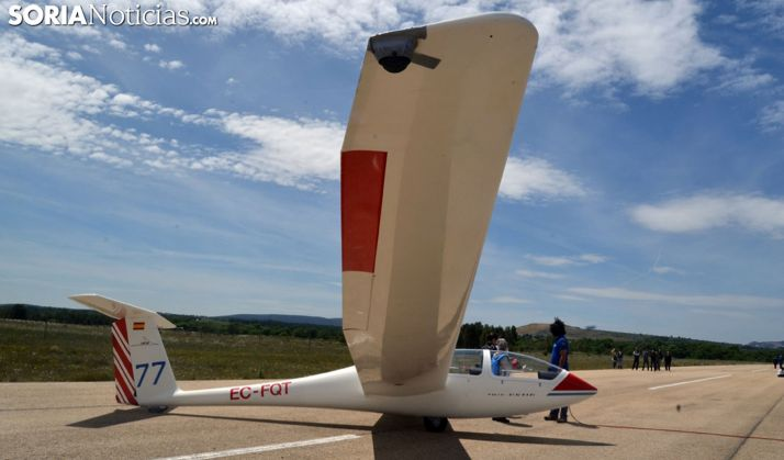 Un planeador en el aeródromo de Garray. /SN