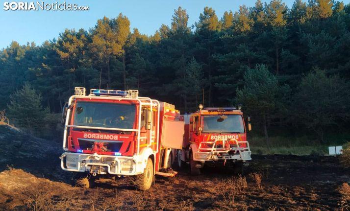 Incendio el pasado lunes en Tierras Altas