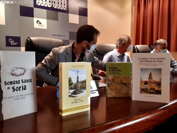 Presentación de cuatro libros editados por la Diputación Provincial.