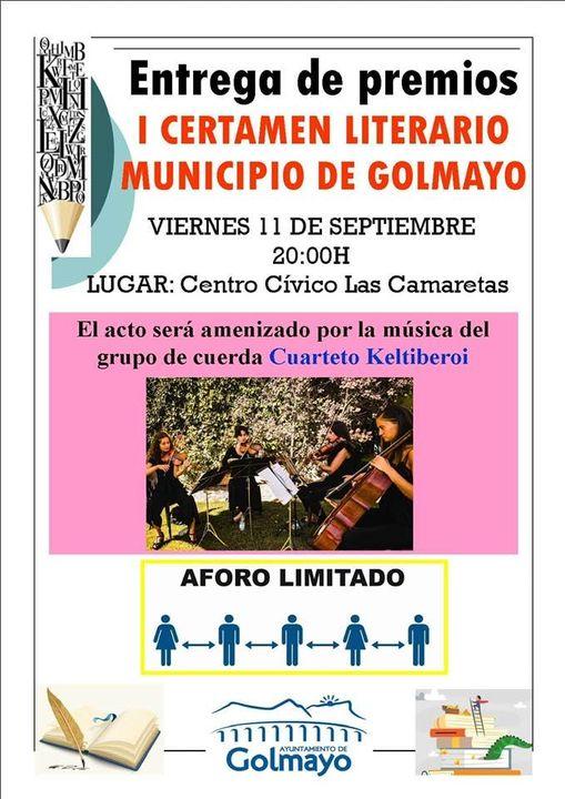 Foto 1 - Nerea López Bosque, ganadora del I Certamen Literario de Golmayo