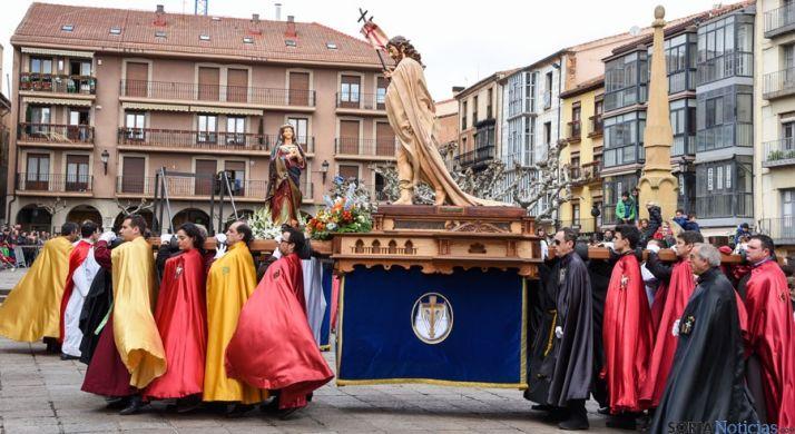 Imagen de archivo de la Procesión del Encuentro en Soria.
