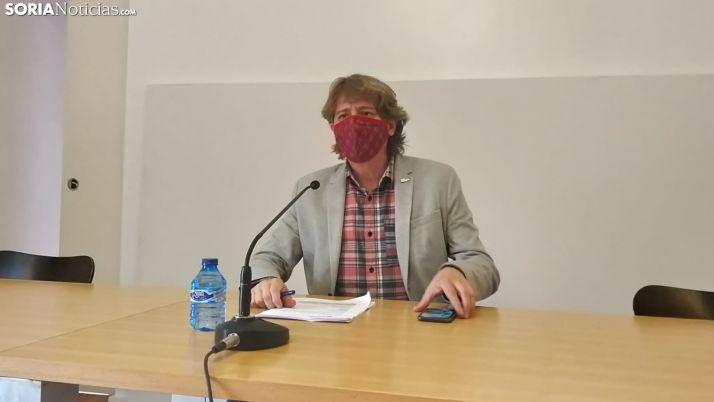 El alcalde, hoy, en rueda de prensa. SN