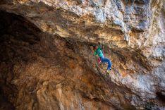 Una imagen de la gesta completada por el veterano escalador. / Luis Fidel Mateo