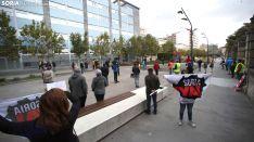 Una imagen de la concentración hoy en la capital soriana. /SN