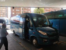 Maletas y microbus de la línea Soria - Valladolid.