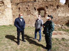 Una imagen de la visita en el interior del castillo. /SdG