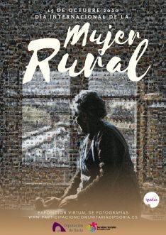 El cartel completo: La fotografía recoge todas las imágenes enviadas al departamento de Servicios Sociales para conmemorar el día de la mujer rural