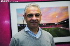 Moisés Israel, presidente del Club Deportivo Numancia, en su entrevista en Soria Noticias. María Ferrer