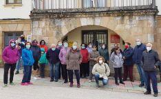 Imagen de la concentración en Los Rábanos el 3 de octubre.