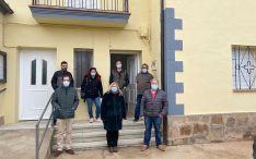 Una imagen de la visita oficial a Monteagudo. /Jta.