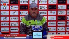 El entrenador del Numancia, Manix Mandiola.