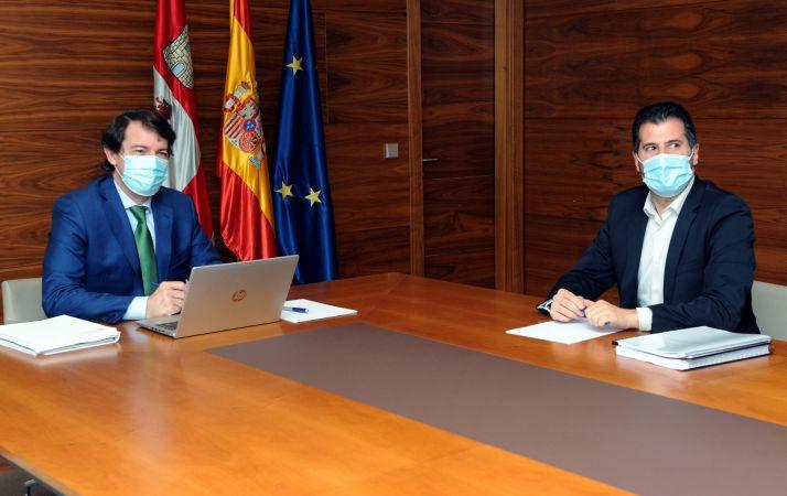 Reunión entre Mañueco y Tudanca.