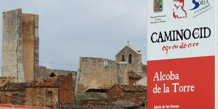 Señalización en la localidad soriana de Alcoba de la Torre. /CCD
