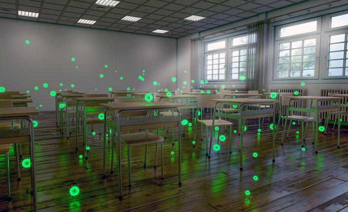 Una guía del CSIC muestra cómo se deben ventilar las aulas para reducir el riesgo de contagio por Covid-19